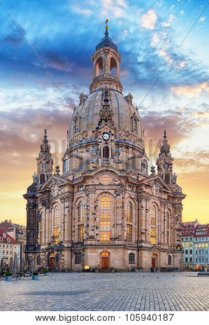 Church Frauenkirche In Dresden Germany - Church Of Our Lady