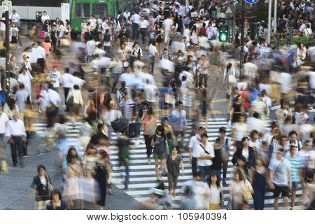 Tokyo Shibuya Crossing - Long Exposure