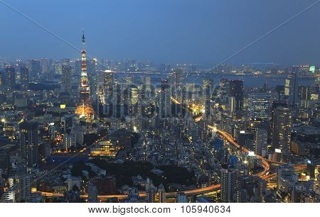 City Of Tokyo By Night