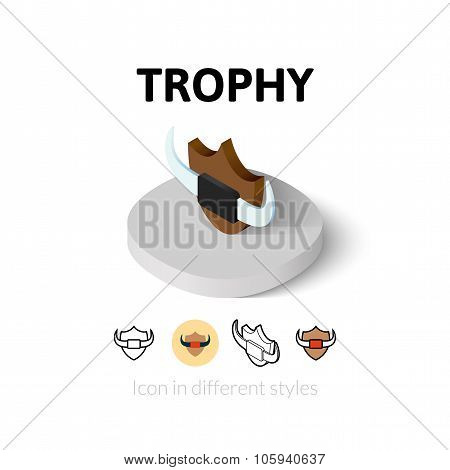Trophy icon in different style
