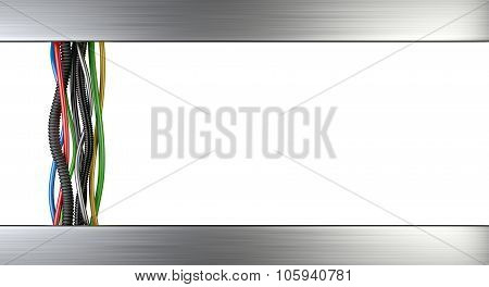 Multicolored Electrical Cables On White Background