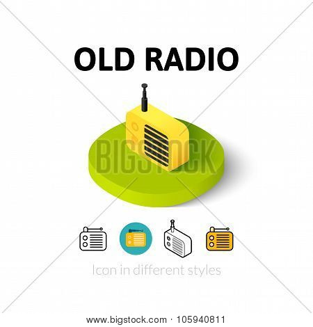 Old radio icon in different style