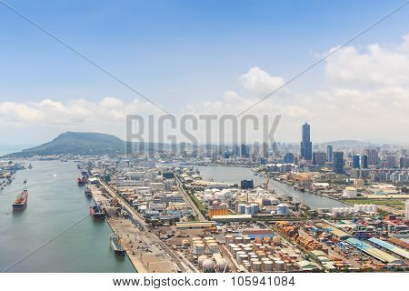 Kaohsiung, Taiwan - July 15,2015: Aerial View Of Kaohsiung In Southern Taiwan