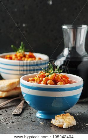 Chick-pea With Tomato, Carrot And Rosemary