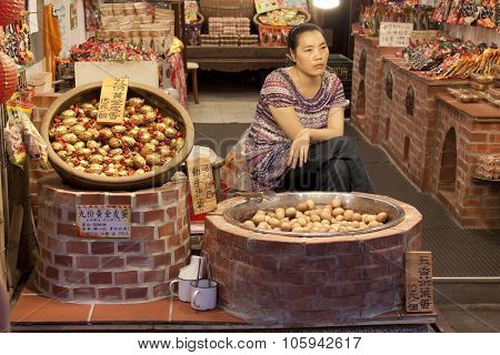 Taiwan Night Street Food Market, Jiufen, Taipei,