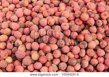 Lychee Fruit Background