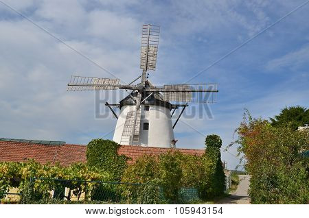 Windmill Is Currently The Only Working Windmill In Austria, Retz City