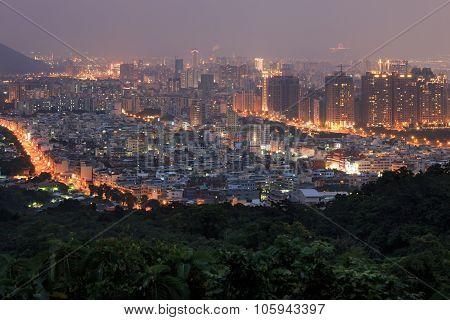 Kaohsiung Skyline At Dawn - Taiwan