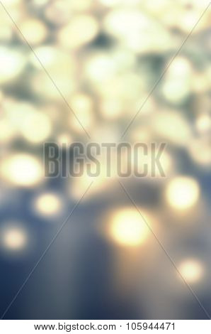 Abstract Gold Glittering Christmas Lights - Blurred  Circular Bokeh Background With De Focused  Circ