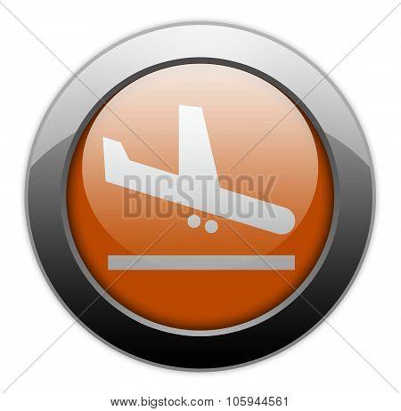Icon, Button, Pictogram Airport Arrivals