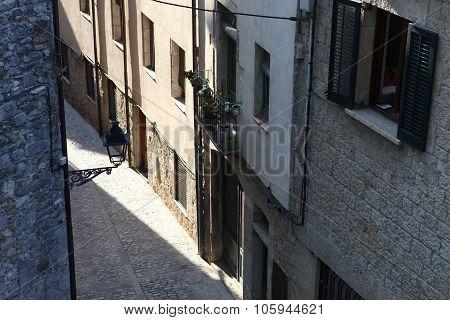 Street In Girona. Catalonia. Spain