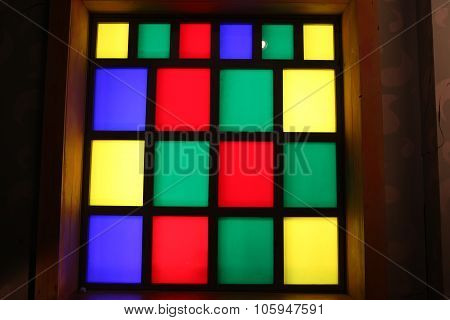 Window Of Colored Glass