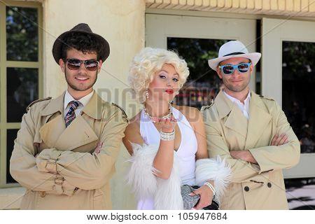 Impersonator Marylin Monroe And Boys