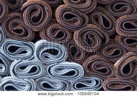 Rolled carpets