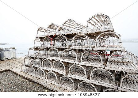 Nova Scotia Lobster Traps, Canada