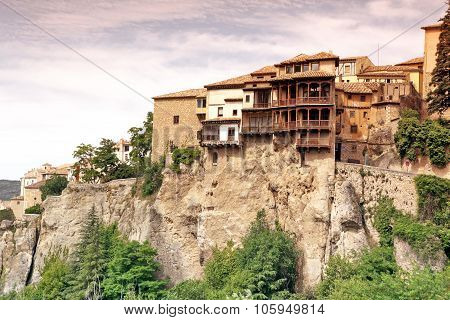 General View Of Cuenca Town In The Morning. Castilla-la Mancha,