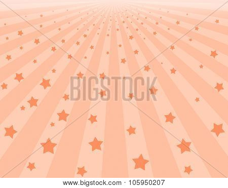 Abstract Pink Background With Stars
