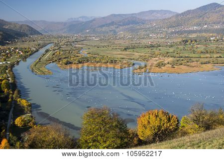 Bistrita River Valley In Autumn