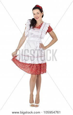 Smiling Maid Woman