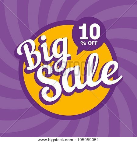 Big sale of 10 percent. Vector background.
