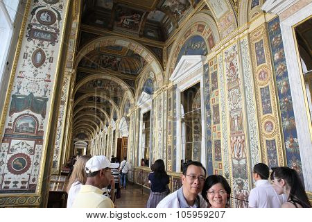St.petersburg, Russia - July 23: Interior Of State Hermitage On