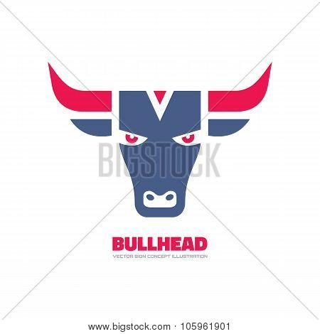 Bull head - vector logo concept illustration. Buffalo head logo. Bull head logo. Taurus head logo.