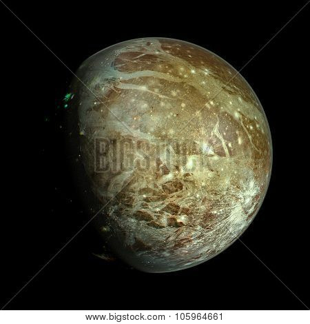 Ganymede planet isolated