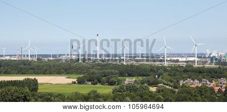 Wind Turbines Near Rotterdam