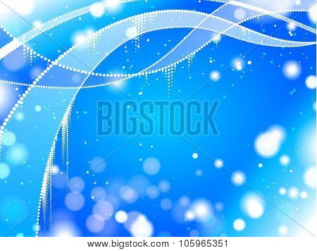 Abstract wave winter background