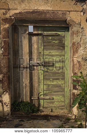 Old Door, Pyrgos, Santorini, Greece