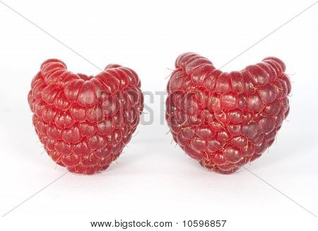 Two raspberries.