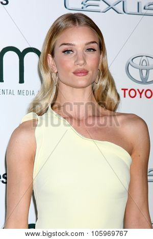 LOS ANGELES - OCT 214:  Rosie Huntington-Whiteley at the Environmental Media Awards 2015 at the Warner Brothers Studio Lot on October 214, 2015 in Burbank, CA
