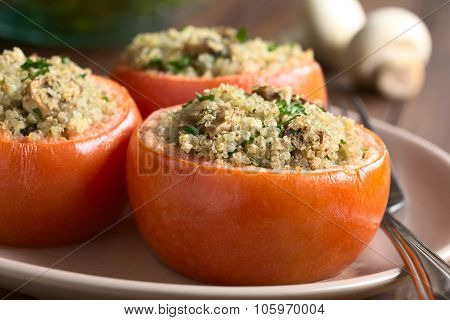 Baked Tomato Stuffed with Quinoa