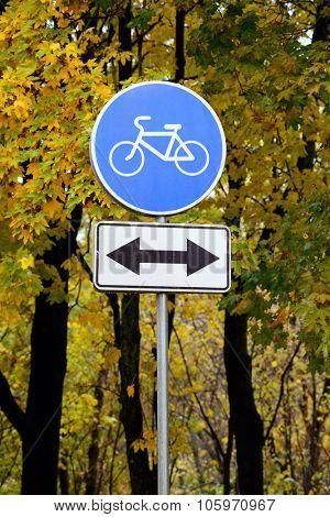 sign bike path