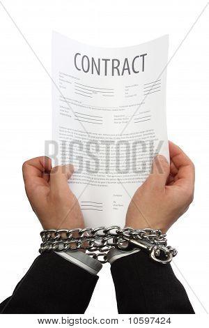 Businessman Hands In Chains