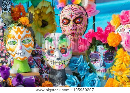 Colorful Masks On Display