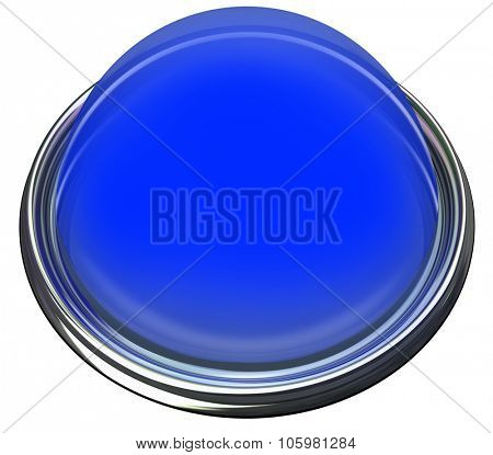 Blue round 3d isolated button or light to catch or grab attention with a message or advertisement