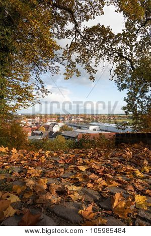 View Over The Old Town Of Boizenburg, Mecklenburg, Germany