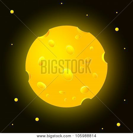 Cheese Planet In Space