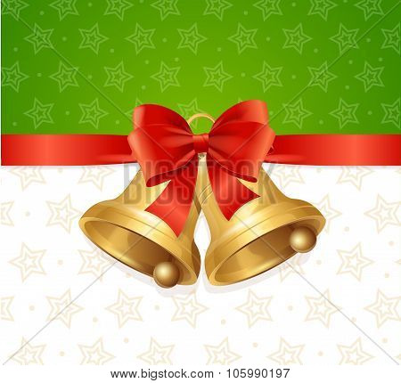 Christmas Bell Card Backround. Vector