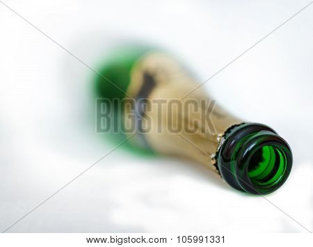 Blurred Bottle On A White Background