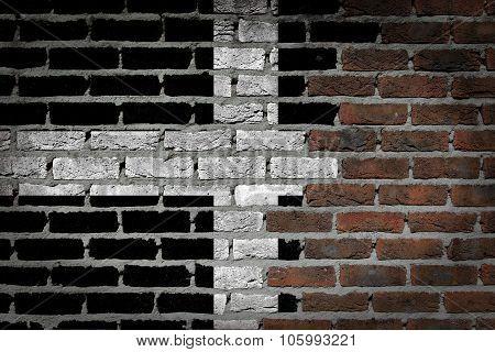 Dark Brick Wall - Cornwall