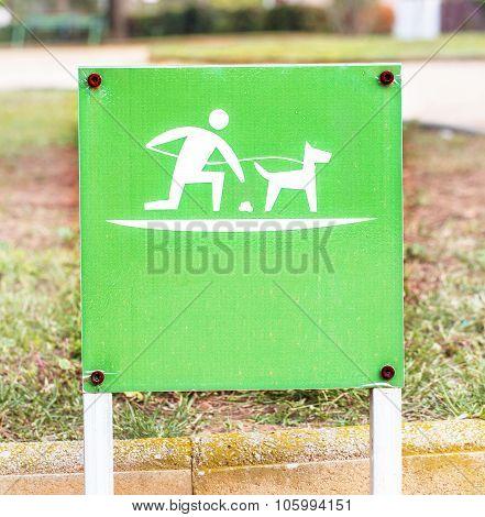 Pet waste sign.