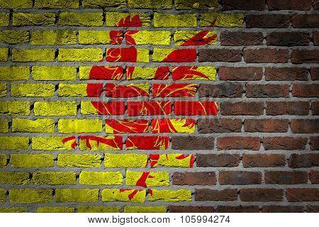 Dark Brick Wall - Wallonia