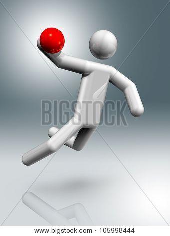 Handball 3D Symbol