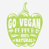 ������, ������: Vegan Typographic Print With A Pepper