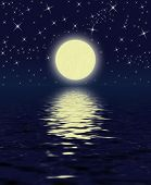 stock photo of full_moon  - magic night - JPG