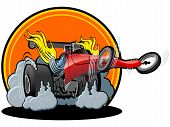 picture of dragster  - Vector cartoon dragster - JPG