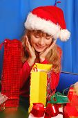 Girl And Christmas Gifts