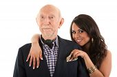 picture of hottie  - Rich elderly man with Hispanic gold - JPG